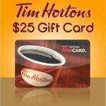 $25 tim horton gift card