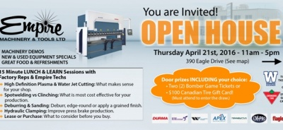 Empire's Open House on April 21 – 11am-5pm