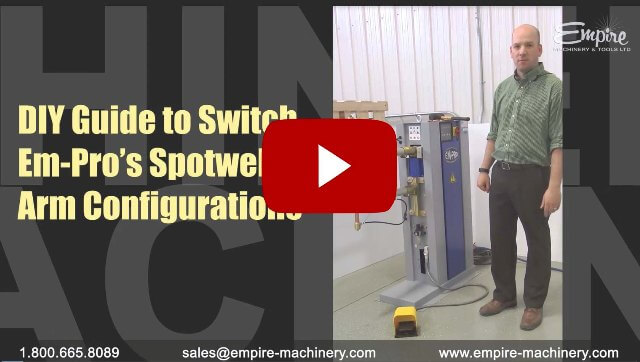 Switching Em-Pro's spotwelder arm configurations