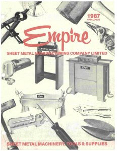 Empire Machinery's first catalogue in 1987