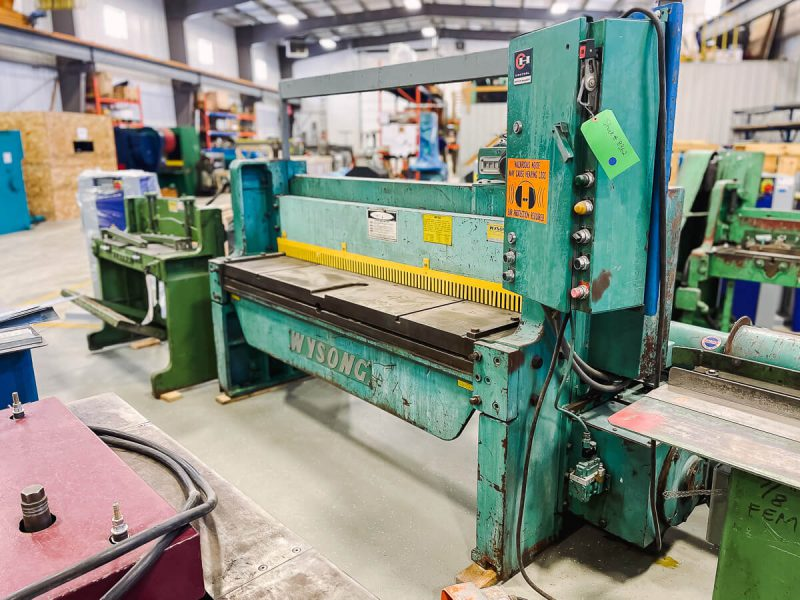 USED WYSONG MECHANICAL POWER SQUARING SHEAR